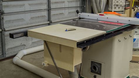 table saw with router table saw extension wing for a router lift 188