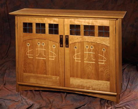Arts And Crafts Cabinet Doors Custom Arts And Crafts Furniture Mackintosh Style Inlaid Doors Audio