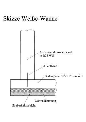 Schwarze Wanne Aufbau by Schwarze Wanne Wei 223 E Wanne Beton Abdichtung Weisse Wanne