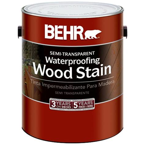 behr 1 gal redwood semi transparent waterproofing wood