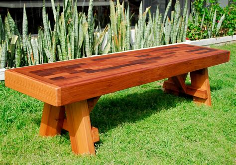 personalized park bench redwood park bench custom outdoor wooden bench