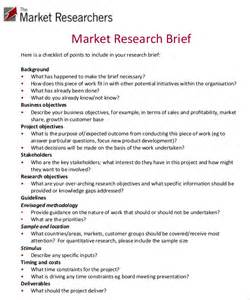 Market Research Template by Marketing Brief Template Free Word Excel Documents