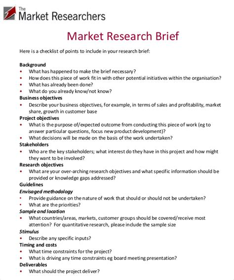 market research report template word marketing brief template free word excel documents