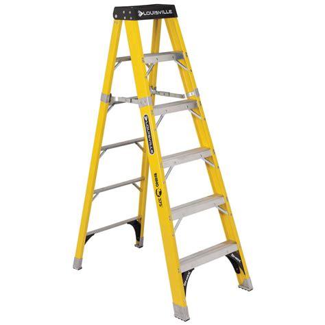 werner 6 ft fiberglass step ladder with 375 lb load