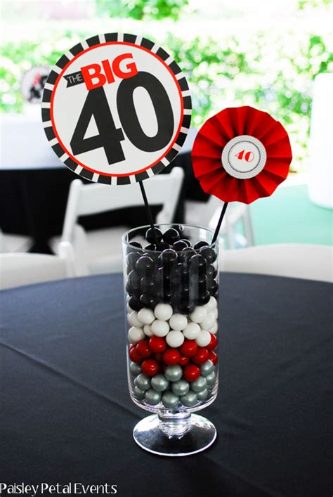 centerpieces for birthday 40th birthday centerpieces on