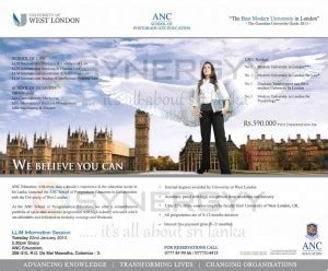 Llm Mba Programs by Anc Post Graduate Education Llm And Mba Ma And M Sc In