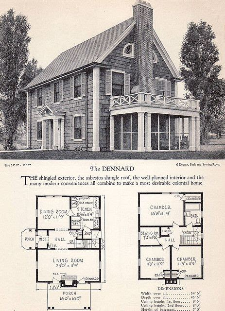 American Colonial House Plans by Vintage House Plans And Design Dise 241 O