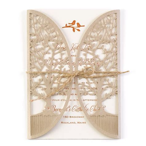 Wedding Invitations Laser Cut by In The Grove Laser Cut Invitation Invitations By