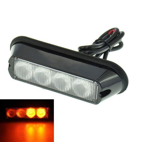 beacon lights for sale aliexpress com buy 2pcs amber 4 led car warning light