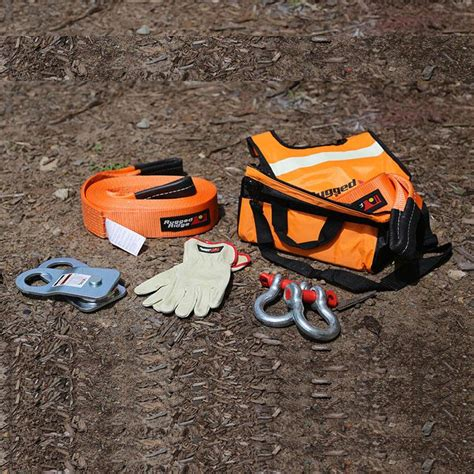 Rugged Ridge Recovery Kit by Rugged Ridge 15104 25 Winch Recovery Gear Kit Recovery