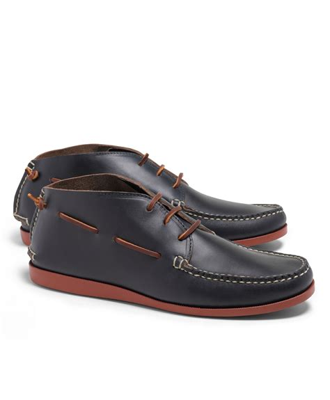 brothers rancourt co sewn chukka boots in blue