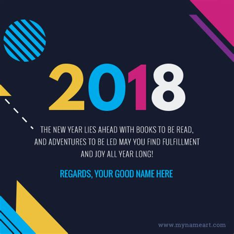 new year 2018 name greetings cards maker free create wishes ecards