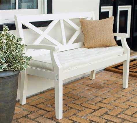 white porch bench hstead painted porch bench white pottery barn