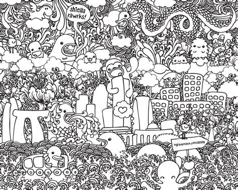 coloring book wallpaper doodle wallpapers wallpaper cave