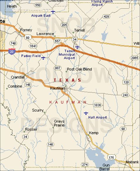 map of kaufman texas kaufman county texas color map