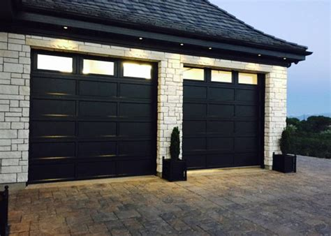 recessed panel garage door barton overhead door inc metal