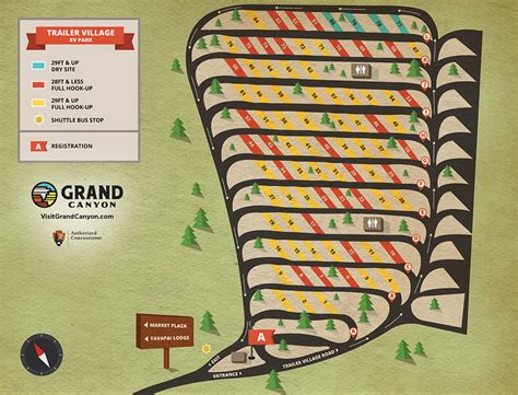 Online Site Plan property map and hookups trailer village rv park