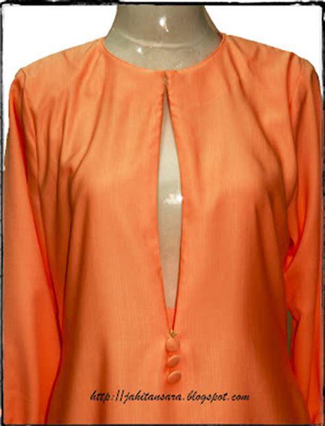 baju kurung moden zip depan bukaan baju kurung menyusu jahitan sara tempahan baju