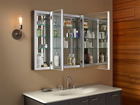 K 99010   Verdera Medicine Cabinet with Triple Mirrored
