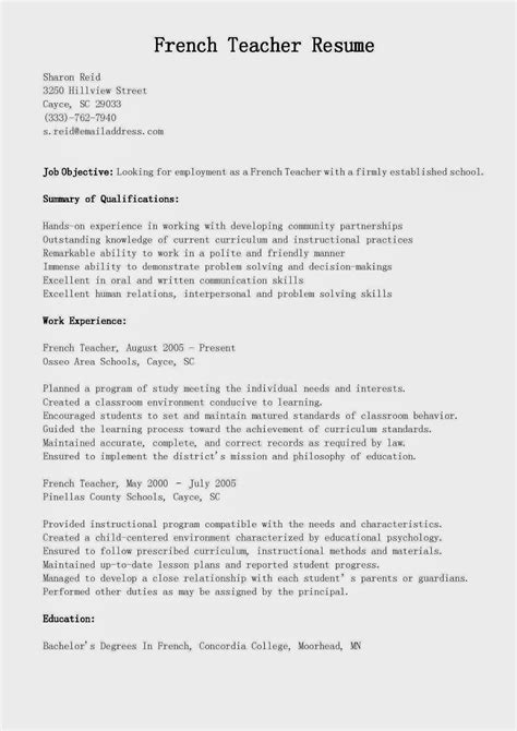 sle resume teachers 28 images resume for teachers