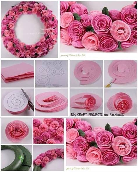 Paper Roses Craft - diy felt wreath pictures photos and images for