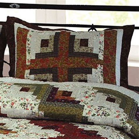 log cabin bedding log cabin patchwork quilt bedding