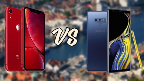 iphone xr vs samsung galaxy note 9 test de velocidad