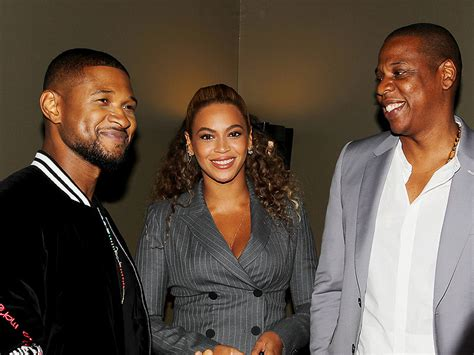 beyonce and usher beyonce jay z at hands of stone premiere people com