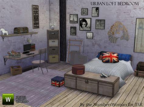 urban loft bedroom set urban loft bedroom by thenumberswoman at tsr 187 sims 4 updates