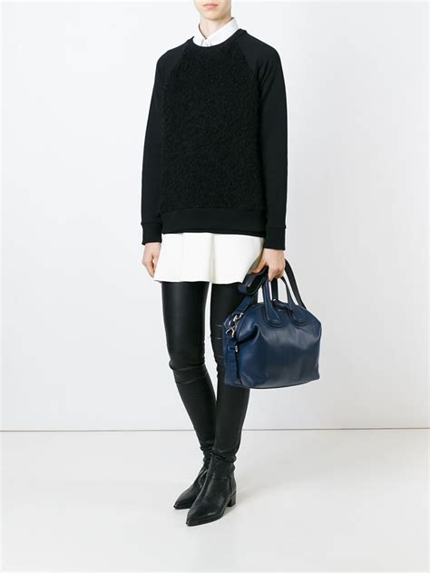 New Of Givenchy Nightangle Smalll givenchy small nightingale tote in blue lyst