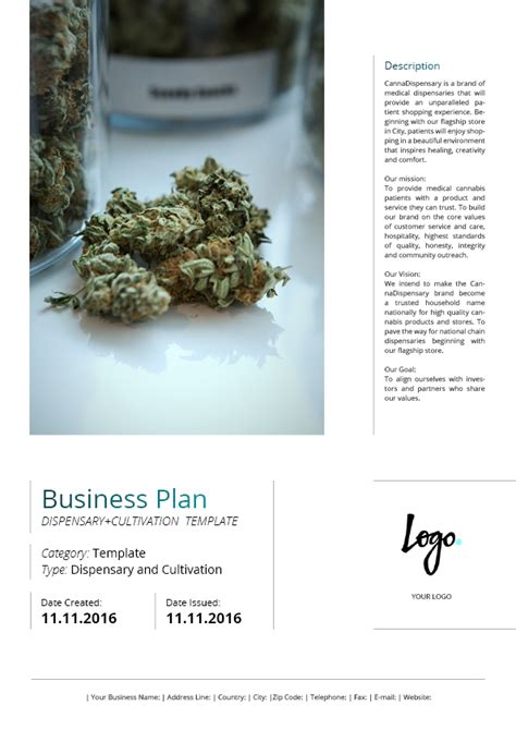 Dispensary Business Plan Free Dispensary Business Plan Template