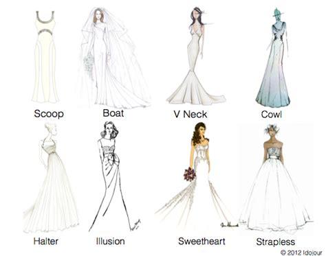how to draw boat neckline wedding dress necklines