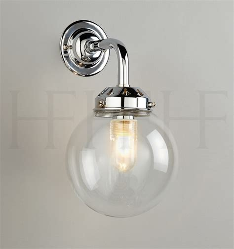 Bathroom Globe Light Globe Wall Light Bathroom Globe Light Hereford Clear Glass Globe Contemporary Austen