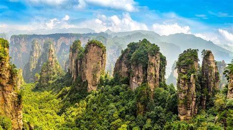imagenes naturales asombrosas las asombrosas vistas en zhangjiajie china
