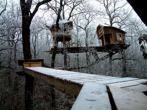 tiny tree house snowy treehouse tiny house swoon