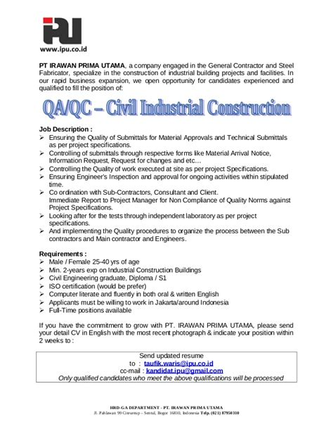 quality control inspector cover letter sample livecareer