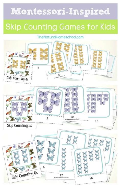 montessori printable st game free printable montessori inspired skip counting games for