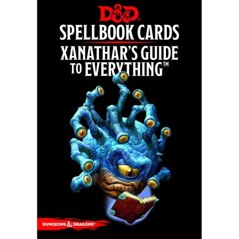 xanathar s guide to everything books d d spellbook cards xanathar s guide to everything