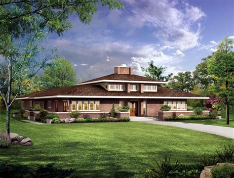 Craftsman Prairie Style House Plans by Craftsman Prairie Style House Plan 90270