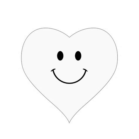 smiling heart coloring page black and white smiley face cliparts co