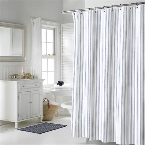 nautica shower curtains nautica palmetto bay stripe shower curtain from