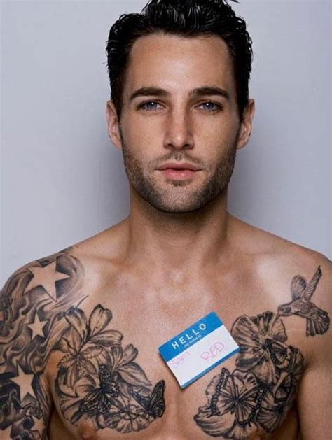 hot tattoo artist male tattoo chest sexy guy secksey pinterest