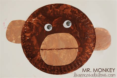 monkey craft for paper plate monkey craft