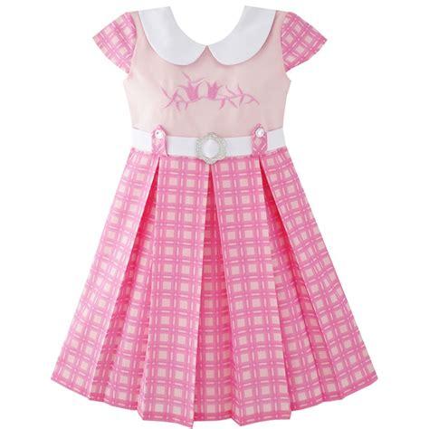 fashion dress pink belted school