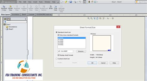 solidworks drawing template tutorial solidworks technical tips solidworks reseller toronto