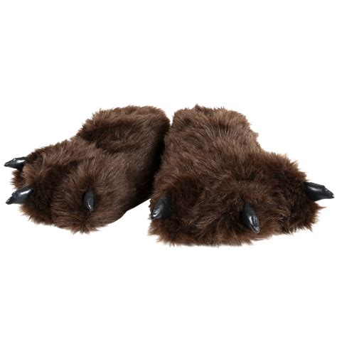 bear house shoes new mens cosy bear feet quot hibernation wear quot fluffy novelty slippers uk size 7 ebay