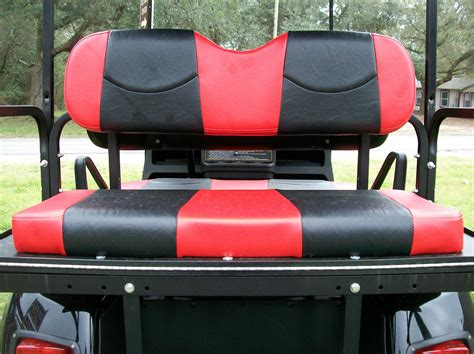 Golf Cart Upholstery Seats by Daredevil And Black Stripes Golf Cart Seat Covers