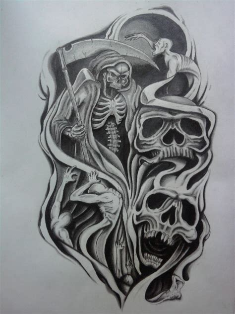 skull tattoo designs sleeves half sleeve designs half sleeve ideas