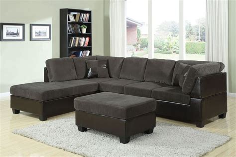 acme billan sectional living room set in green acme modern olive gray corduroy espresso leather sectional