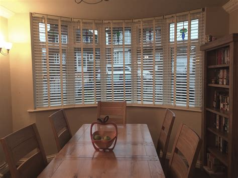 dining room blinds white wooden blinds for emma s dining room bay window